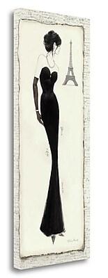 Tangletown Fine Art 'Elegance Diva II' Graphic Art Print on Wrapped Canvas; 32'' H x 13'' W
