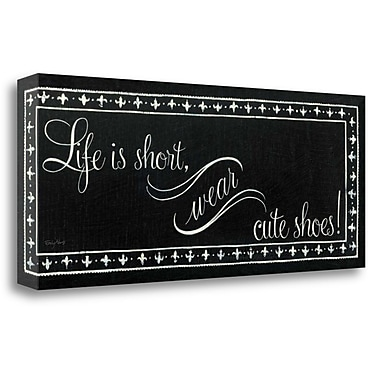 Tangletown Fine Art 'Cute Shoes' Textual Art on Wrapped Canvas; 13'' H x 32'' W