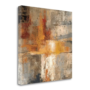 Tangletown Fine Art 'Silver and Amber Crop' Print on Wrapped Canvas; 18'' H x 18'' W