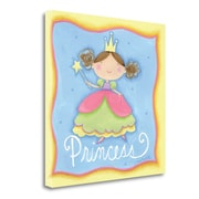 Tangletown Fine Art 'Princess' Graphic Art Print on Wrapped Canvas; 20'' H x 20'' W