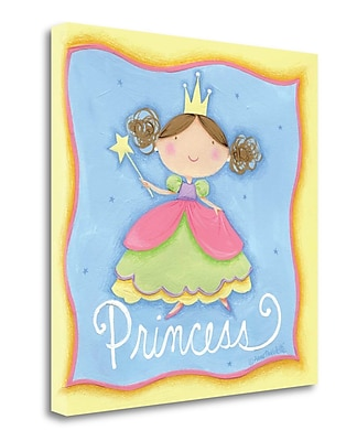 Tangletown Fine Art 'Princess' Graphic Art Print on Wrapped Canvas; 24'' H x 24'' W
