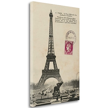 Tangletown Fine Art 'Paris 1900' Graphic Art Print on Wrapped Canvas; 36'' H x 24'' W