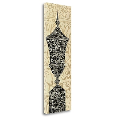 Tangletown Fine Art 'Scripted Urn I' Textual Art on Wrapped Canvas; 39'' H x 13'' W