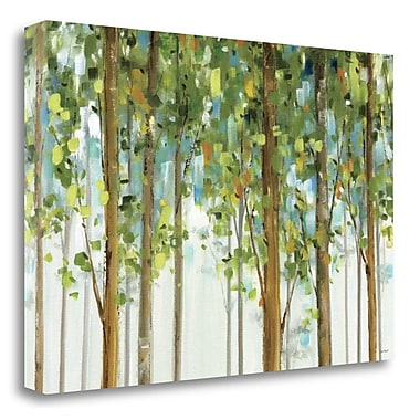Tangletown Fine Art 'Forest Study I Crop' Painting Print on Canvas; 32'' H x 48'' W