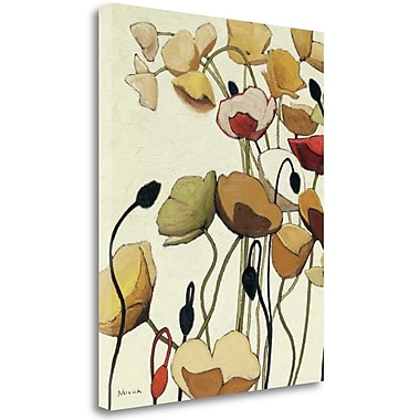 Tangletown Fine Art 'Pavots Ondule I' Print on Wrapped Canvas; 28'' H x 23'' W