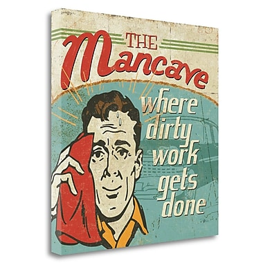 Tangletown Fine Art 'Mancave III Where Dirty Work Gets Done' Vintage Advertisement on Wrapped Canvas