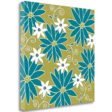 Tangletown Fine Art 'Floral II' Graphic Art Print on Canvas; 18'' H x 18'' W