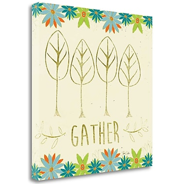 Tangletown Fine Art 'Gather Trees' Graphic Art Print on Canvas; 20'' H x 20'' W