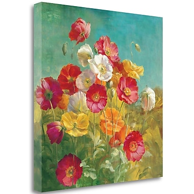 Tangletown Fine Art 'Poppies in the Field' Print on Canvas; 18'' H x 18'' W