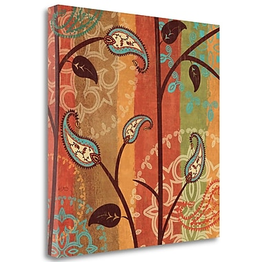 Tangletown Fine Art 'Paisley Garden II' Graphic Art Print on Wrapped Canvas; 18'' H x 18'' W