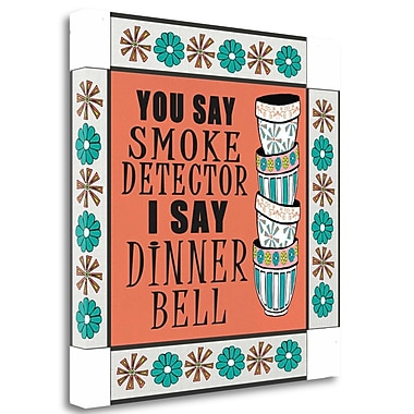 Tangletown Fine Art 'Dinner Bell' Textual Art on Wrapped Canvas; 30'' H x 30'' W