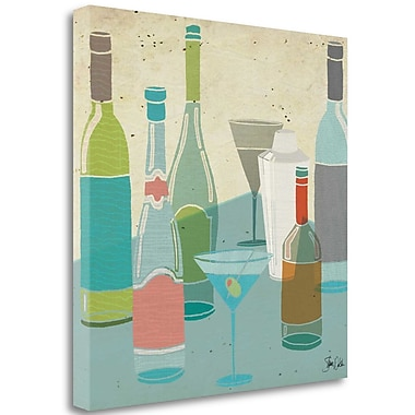 Tangletown Fine Art 'Cocktail Party III' Graphic Art Print on Wrapped Canvas; 35'' H x 35'' W