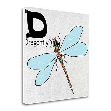 Tangletown Fine Art 'D - Dragonfly' Graphic Art Print on Wrapped Canvas; 35'' H x 35'' W