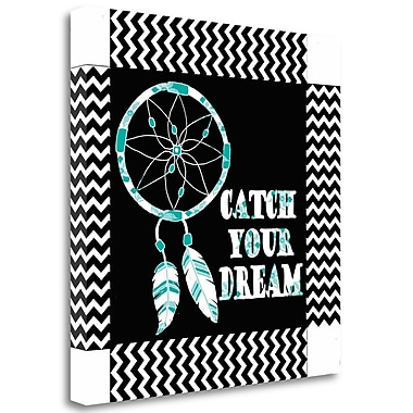 Tangletown Fine Art 'Catch Your Dream' Graphic Art Print on Wrapped Canvas; 20'' H x 20'' W
