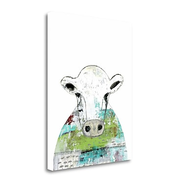 Tangletown Fine Art 'Collage Cow II' Graphic Art Print on Wrapped Canvas; 23'' H x 18'' W