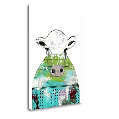 Tangletown Fine Art 'Collage Cow' Graphic Art Print on Wrapped Canvas; 34'' H x 25'' W