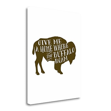 Tangletown Fine Art 'Buffalo Home' Textual Art on Wrapped Canvas; 23'' H x 18'' W