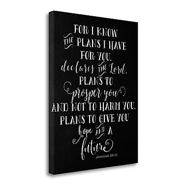 Tangletown Fine Art 'Chalkboard Jeremiah 29-11' Textual Art on Wrapped Canvas; 20'' H x 16'' W
