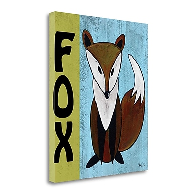 Tangletown Fine Art 'Woodland Fox ' Graphic Art Print on Canvas; 26'' H x 21'' W