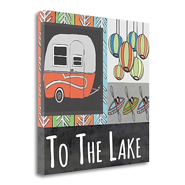Tangletown Fine Art 'To the Lake III' Graphic Art Print on Canvas; 25'' H x 25'' W
