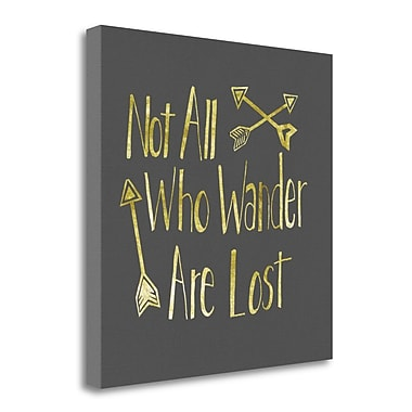 Tangletown Fine Art 'Wander' Textual Art on Wrapped Canvas; 24'' H x 24'' W