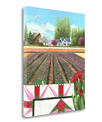 Tangletown Fine Art 'Tulip Quilt' Graphic Art Print on Canvas; 22'' H x 18'' W