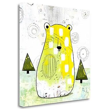Tangletown Fine Art 'Bear III' Graphic Art Print on Wrapped Canvas; 18'' H x 18'' W