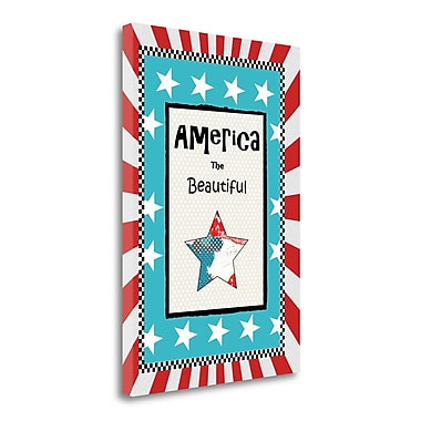 Tangletown Fine Art 'America the Beautiful' Graphic Art Print on Wrapped Canvas; 34'' H x 24'' W