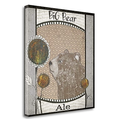 Tangletown Fine Art 'Big Bear Ale' Graphic Art Print on Wrapped Canvas; 39'' H x 35'' W