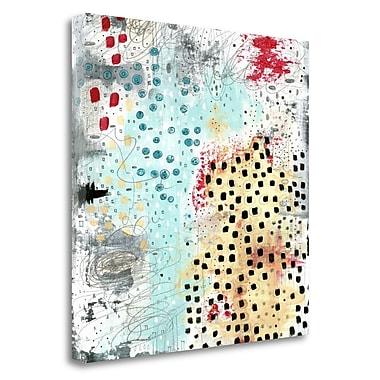 Tangletown Fine Art 'Black Spots Abstract' Graphic Art Print on Wrapped Canvas; 30'' H x 30'' W