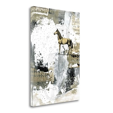 Tangletown Fine Art 'Blonde Horse' Graphic Art Print on Wrapped Canvas; 29'' H x 21'' W