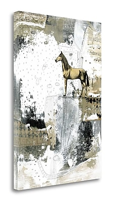 Tangletown Fine Art 'Blonde Horse' Graphic Art Print on Wrapped Canvas; 34'' H x 24'' W