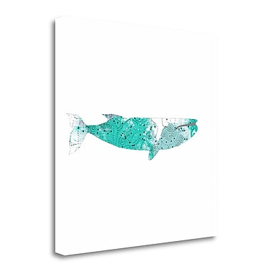 Tangletown Fine Art 'Blue Whale' Graphic Art Print on Wrapped Canvas; 35'' H x 35'' W