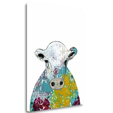 Tangletown Fine Art 'Abstract Floral Cow' Graphic Art Print on Wrapped Canvas; 33'' H x 25'' W