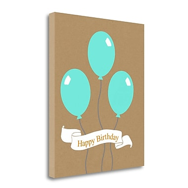 Tangletown Fine Art 'Birthday Balloons' Graphic Art Print on Wrapped Canvas; 20'' H x 16'' W