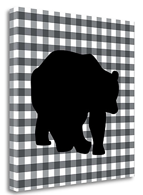 Tangletown Fine Art 'Bear I' Graphic Art Print on Wrapped Canvas; 20'' H x 20'' W