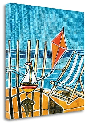 Tangletown Fine Art 'Beach Scene I' Print on Wrapped Canvas; 21'' H x 21'' W