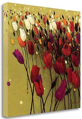 Tangletown Fine Art 'Tulip Drift Green' Print on Wrapped Canvas; 35'' H x 35'' W