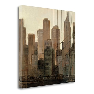 Tangletown Fine Art 'View from the Bridge I' Print on Wrapped Canvas; 20'' H x 20'' W
