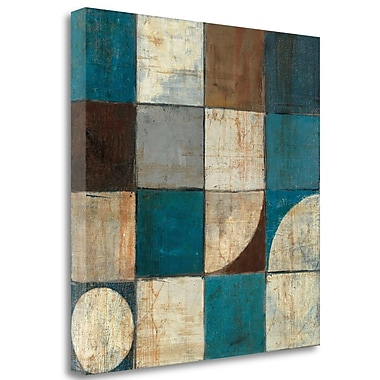 Tangletown Fine Art 'Tango Detail I Blue Brown' Print on Wrapped Canvas; 25'' H x 25'' W