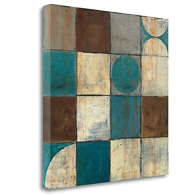 Tangletown Fine Art 'Tango Detail II Blue Brown' Print on Wrapped Canvas; 25'' H x 25'' W