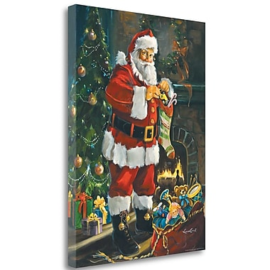 Tangletown Fine Art 'Sneaking Santa' Print on Wrapped Canvas; 26'' H x 20'' W