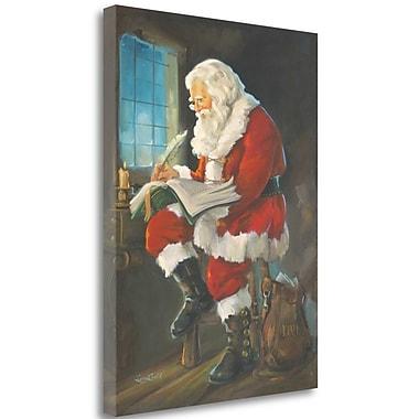 Tangletown Fine Art 'Santas Book of Children' Print on Canvas; 28'' H x 21'' W