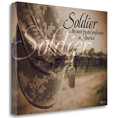 Tangletown Fine Art 'Soldier' Graphic Art Print on Wrapped Canvas; 18'' H x 23'' W