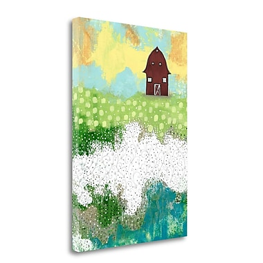 Tangletown Fine Art 'The Red Barn' Print on Wrapped Canvas; 24'' H x 17'' W