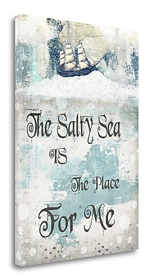 Tangletown Fine Art 'The Salty Sea' Textual Art on Wrapped Canvas; 39'' H x 28'' W