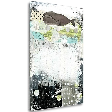 Tangletown Fine Art 'The Great Bowhead Whale' Graphic Art Print on Wrapped Canvas; 24'' H x 17'' W