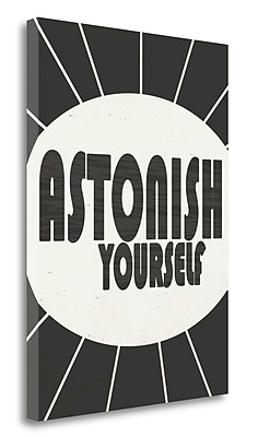 Tangletown Fine Art 'Astonish Yourself' Textual Art on Wrapped Canvas; 28'' H x 20'' W