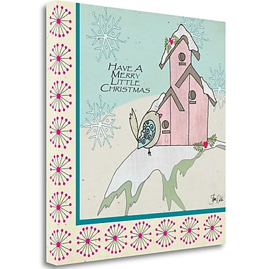 Tangletown Fine Art 'Birdhouse Christmas' Graphic Art Print on Wrapped Canvas; 30'' H x 30'' W
