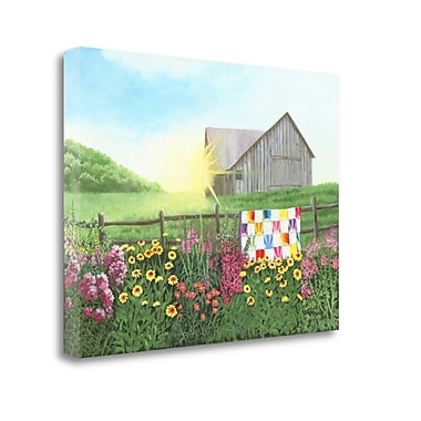 Tangletown Fine Art 'Sunshine Quilt' Print on Wrapped Canvas; 35'' H x 47'' W